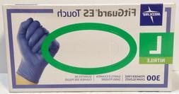 Medline FitGuard ES Touch Nitrile Exam Gloves Powder-Free La