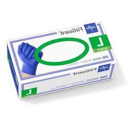 MEDLINE FitGuard Nitrile Exam Gloves,Dark Blue,Large 2500 Ea