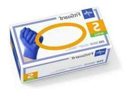 Medline FitGuard Nitrile Exam Gloves Powder-Free Small Blue