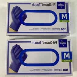 Medline FitGuard Touch Nitrile Exam Gloves Powder-Free Mediu