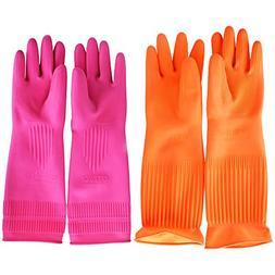 Flower Sea9 Latex Rubber Gloves for Clean Sense Dish washing