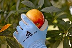 Gardening Gloves Women, 4 pairs, Hypoallergenic, Nitrile Coa
