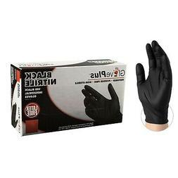 Ammex GlovePlus Black Nitrile Gloves- Medium- 100ct/box- GPN