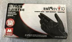 GlovePlus Nitrile Gloves Textured Powder Free Black, 100 pac