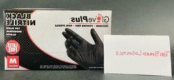 GLOVEPLUS NITRILE INDUSTRIAL GLOVES MEDIUM BLACK/100 box SHI