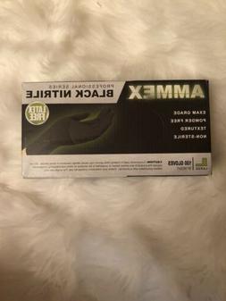 AMMEX GLOVEPLUS NITRILE Professional Series GLOVES - BLACK L
