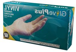 Ammex GlovePlus Powdered Industrial Grade Vinyl Gloves, Medi