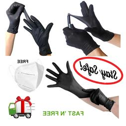 Nitrile Gloves 100 pcs Black  Medium Size 5 Mil Thick