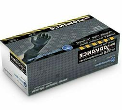 Diamond Gloves Black Advance Nitrile Examination Powder-Free