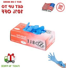 Gloves 100pcs Nitrile Exam Gloves Latex Free- Powder Free La