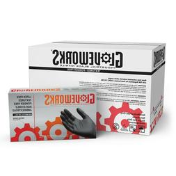 1000 GLOVEWORKS Black Nitrile Industrial Latex Free Mechanic