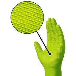 Ammex Gloveworks Green Nitrile Gloves- XL- 100ct/box- GWGN48