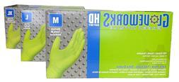 Ammex Gloveworks Green Nitrile Gloves Medium 100 gloves per