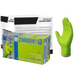 GLOVEWORKS Green Nitrile Industrial Latex Free Disposable Gl