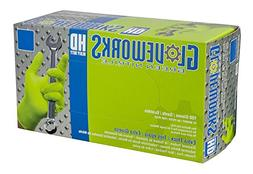 AMMEX Gloveworks Green Nitrile HD, Disposable, 8 Mil, XL, 50