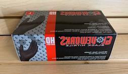 Gloveworks HD Black Nitrile, Box of 100, Large, Heavy Duty N