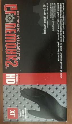 Gloveworks HD Black Nitrile, Box of 100, X-Large, Heavy Duty
