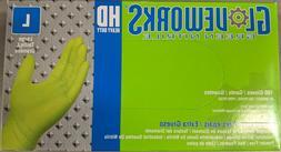 Ammex Gloveworks HD Green Nitrile Gloves - Large, Box of 100