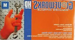 gloveworks hd orange nitrile powder free industrial