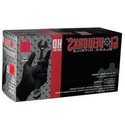 Ammex Gloveworks Heavy Duty Black Powder Free Nitrile Gloves