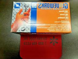GLOVEWORKS Orange Nitrile HD Industrial Disposable Gloves GW