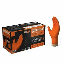 GLOVEWORKS Orange Nitrile Industrial Latex Free Disposable G