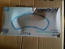 MEDICHOICE GLV5002 Nitrile Disposable Exam Gloves, Medium