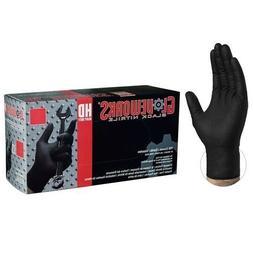AMMEX GPNB48100 Black Large Nitrile Gloves - SIZE XL - 1000