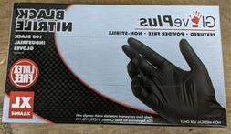 AMMEX GPNB48100 Black Nitrile Gloves - SIZE XL - 1000 Pieces