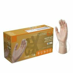 2000/Cs AMMEX Disposable Vinyl Gloves Powder Free Strong Non