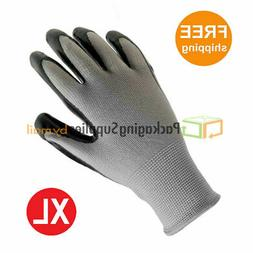 Grey Nitrile Dipped Nylon Work Gloves Size: X-Large  1 Dozen