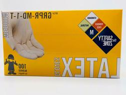 Safety Zone GRPR-MD-1-T Powder Free Disposable Natural Latex