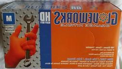 gwon orange nitrile industrial gloves powder free