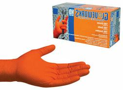 GWON46100 Gloveworks Nitrile Disposable Gloves L Orange 100