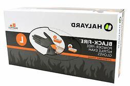 Halyard Health 44758 Black Fire Nitrile Exam Glove Large - 1