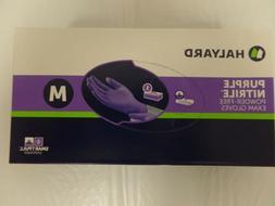 halyard purple nitrile glove medium 100 bx