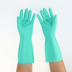 Heavy Duty Nitrile Gloves Household Protective Safety Work C