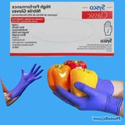 high performance nitrile gloves powder free blue