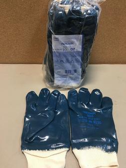 Ansell Hycron 27-602 Blue Nitrile Coated Safety Gloves Sz 10