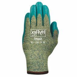 HyFlex 501 Medium-Duty Gloves, Size 8, Nitrile, Blue/Green,