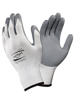 Ansell HyFlex 11-800 Nylon Glove, Gray Foam Nitrile Coating,
