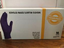 SUPPLYMASTER INDIGO NITRILE GLOVES MEDIUM 100 gloves per box