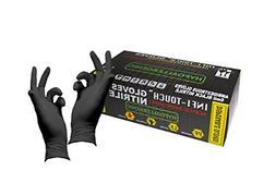 Infi-Touch Heavy Duty Black Nitrile Gloves, Hypoallergenic 6