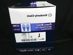 KC500 Purple Nitrile Exam Gloves Sterile Powder-Free ''Mediu