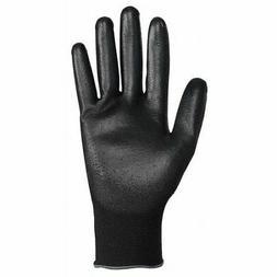 KIMBERLY-CLARK 38431 Coated Gloves,Nitrile,XL,Black,PK12