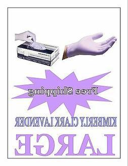 Kimberly Clark/Halyard Lavender Nitrile Exam GLoves Size LAR