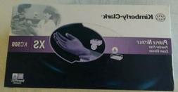 Kimberly-Clark Purple Nitrile 1 Box 100 Exam Gloves Size XS!