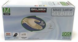 Kirkland Nitrile Exam Gloves 200 Ct Size Medium-Same Day Shi