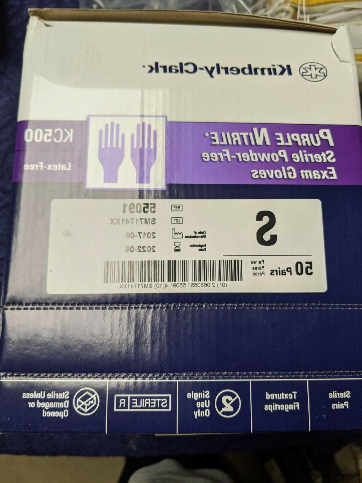HALYARD HEALTH 1 BX/50 EA 55091 KC500 Purple Nitrile Exam Gl