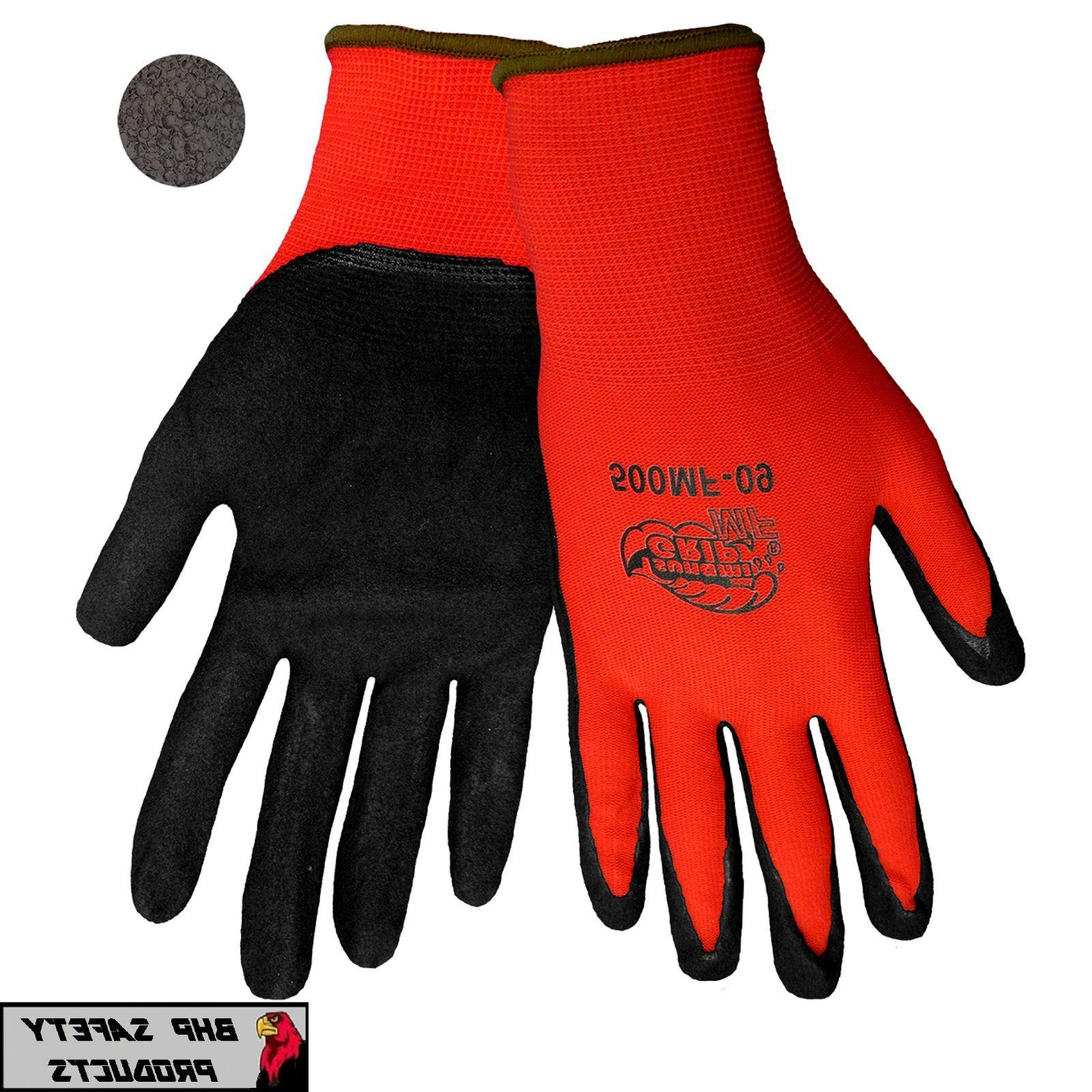 GLOBAL TSUNAMI GRIP NITRILE COATED MECHANICS WORK GLOVES SZ